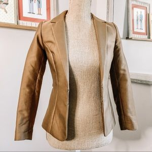 H&M Camel Cognac Fitted Blazer Size 2